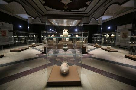 The Museum of Basra is seen at a palace of former Iraqi president Saddam Hussein, in Basra