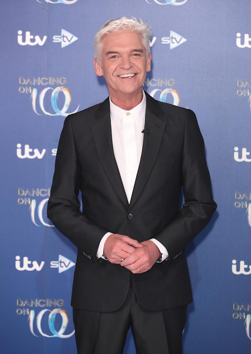 Phillip Schofield during the Dancing On Ice 2019 photocall at ITV Studios on December 09, 2019 in London, England. (Photo by Mike Marsland/WireImage)