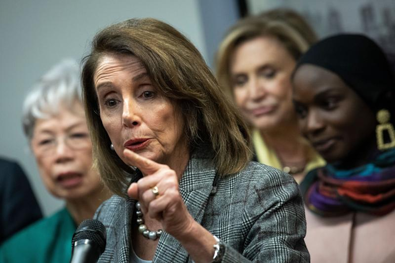 House Speaker Nancy Pelosi says Democrats will fight for transparency in the release of special counsel Robert Mueller's findings. (Photo: Drew Angerer via Getty Images)