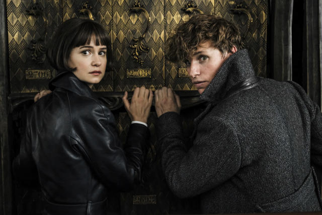 <p>Katherine Waterston returns as Newt's love interest and reinstated MACUSA auror Tina Goldstein. (Photo: Jaap Buitendijk/Warner Bros.) </p>