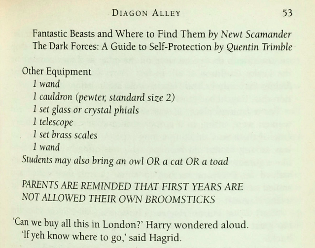 <em>The mistake duplication of '1 wand' on Harry's school equipment list (SWNS)</em>