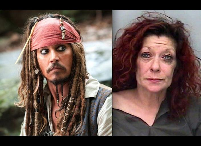 """This 51-year-old Brit hijacked a ferry in September 2011, reportedly yelling to police officers that she was Jack Sparrow.    <a href=""""http://www.huffingtonpost.com/2012/09/20/alison-whelan-jack-sparrow-steals-ferry_n_1901200.html?1348169718"""" target=""""_hplink"""">Read the whole story here.</a>"""