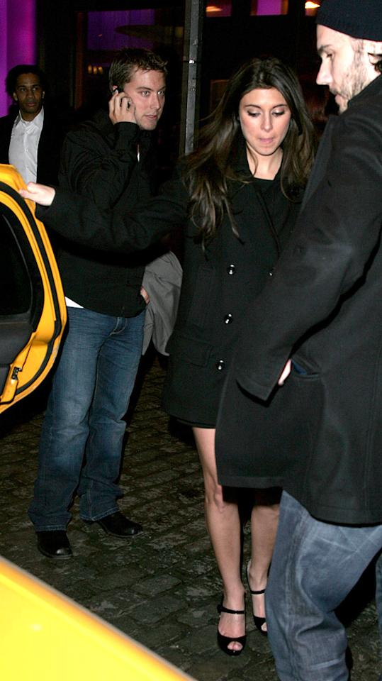 "Lance Bass, Jamie-Lynn Sigler, and her boyfriend Scott Sartiano check out the scene in New York's Meat Packing District. James Devaney/<a href=""http://www.wireimage.com"" target=""new"">WireImage.com</a> - March 21, 2007"