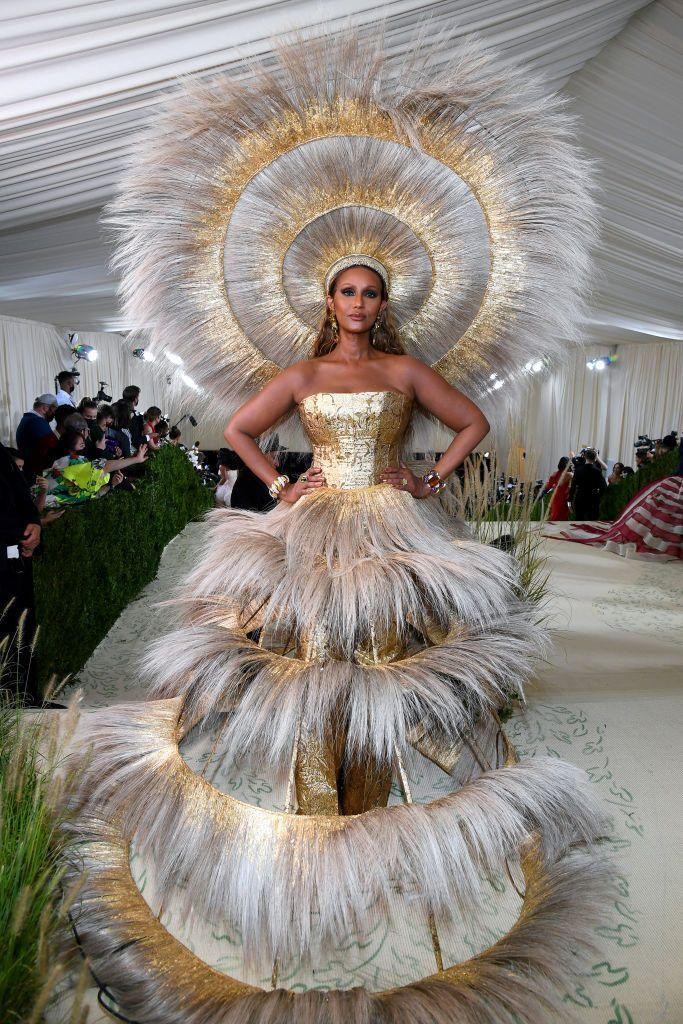 <p>The thing about Iman is, if you invite her to the Met Gala, she's going to give you the full Iman, whether you can handle it or not. Once again affirming her status as a world-class supermodel, the legend showed up looking like some sort of sun goddess in a Harris Reed ensemble that not only turned heads, it cleared the floor.</p>
