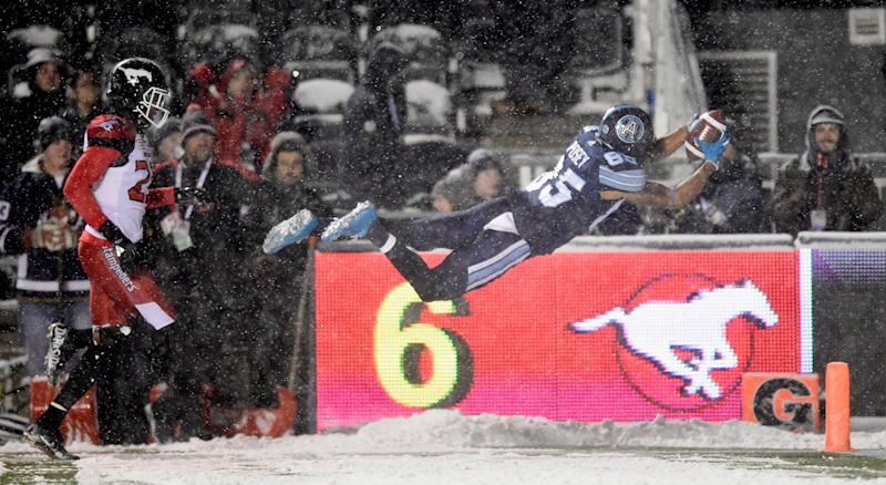 Qudarius Ford, Bear Woods win snowy Grey Cup with Toronto Argonauts