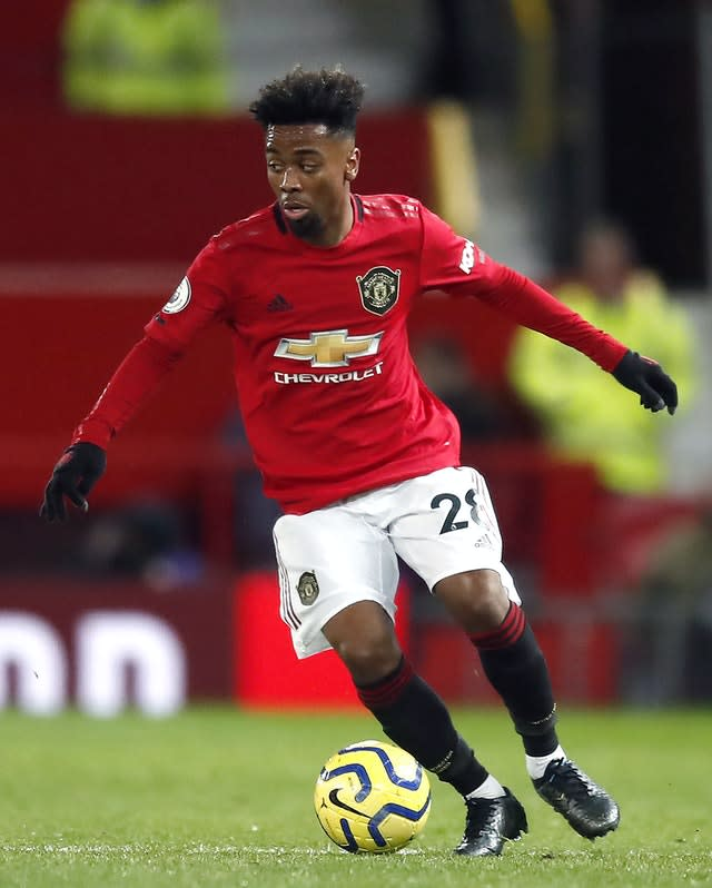 Manchester United's Angel Gomes could soon call Stamford Bridge home (Martin Rickett/PA)