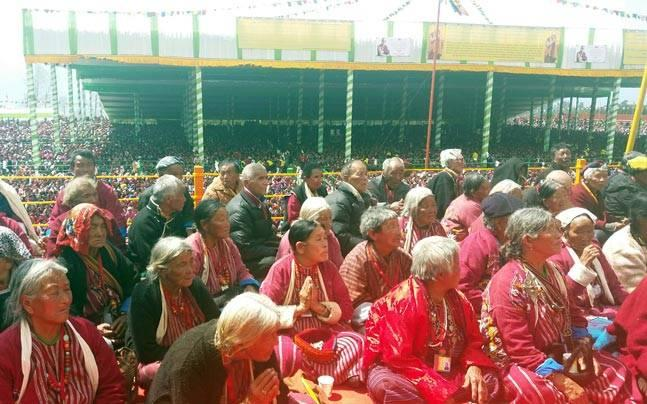 These VVIPs in Dalai Lama's preaching sessions are all below the poverty line, on wrong side of 80