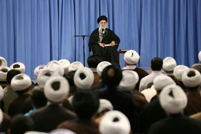 Iran's Supreme Leader Ayatollah Ali Khamenei lauded the people's 'huge participation' in the election, despite voter apathy marking the polls (AFP Photo/-)