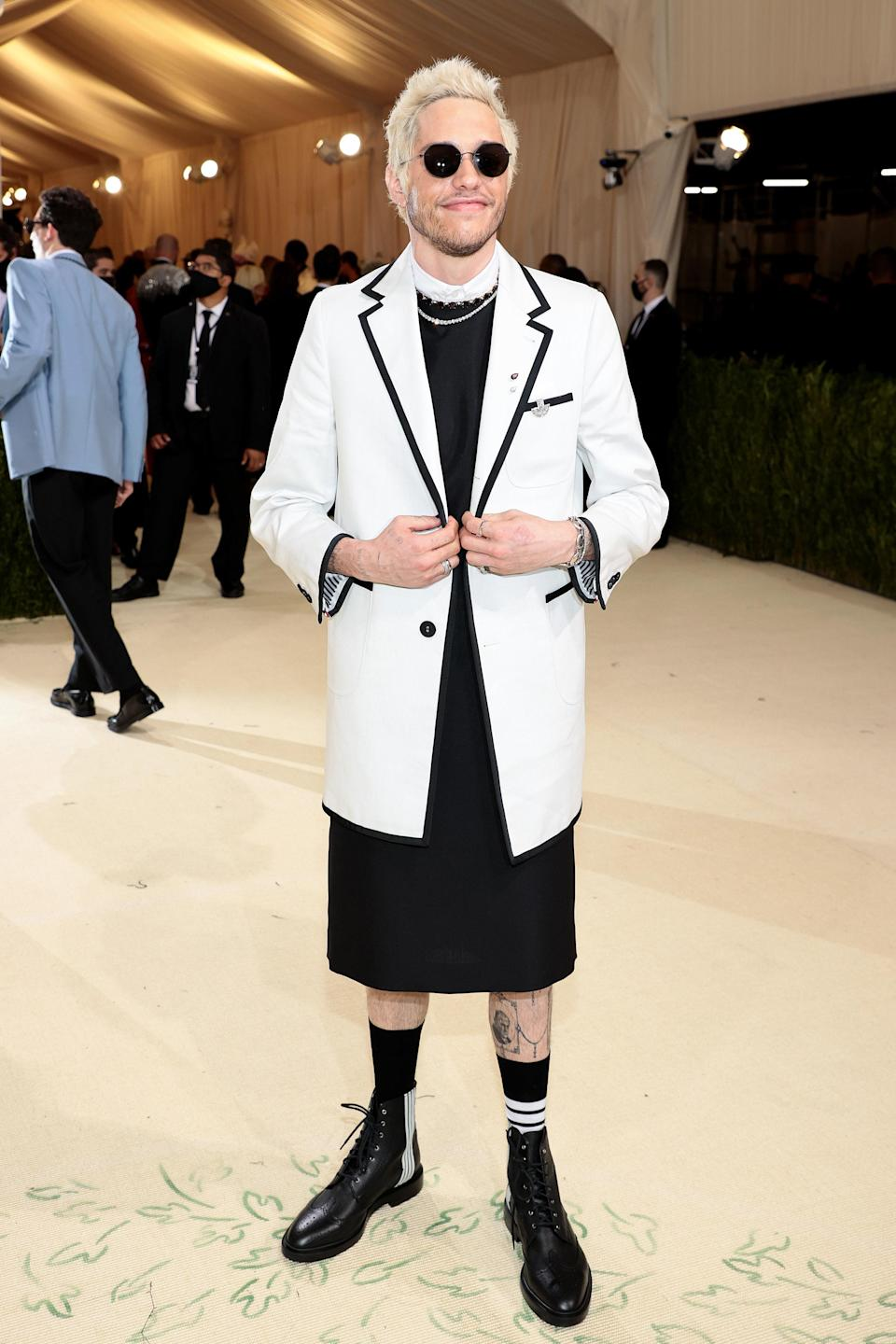 """<h1 class=""""title"""">Pete Davidson, The 2021 Met Gala Celebrating In America: A Lexicon Of Fashion - Arrivals</h1><cite class=""""credit"""">Getty</cite>"""