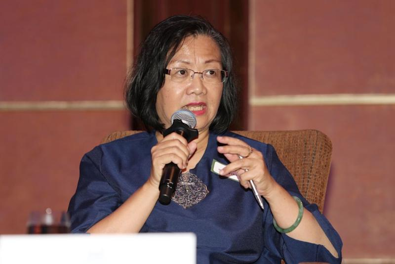 Maria Chin Abdullah speaks during the Malaysian Strategic Financial Outlook Forum in Kuala Lumpur March 12, 2019. — Picture by Choo Choy May