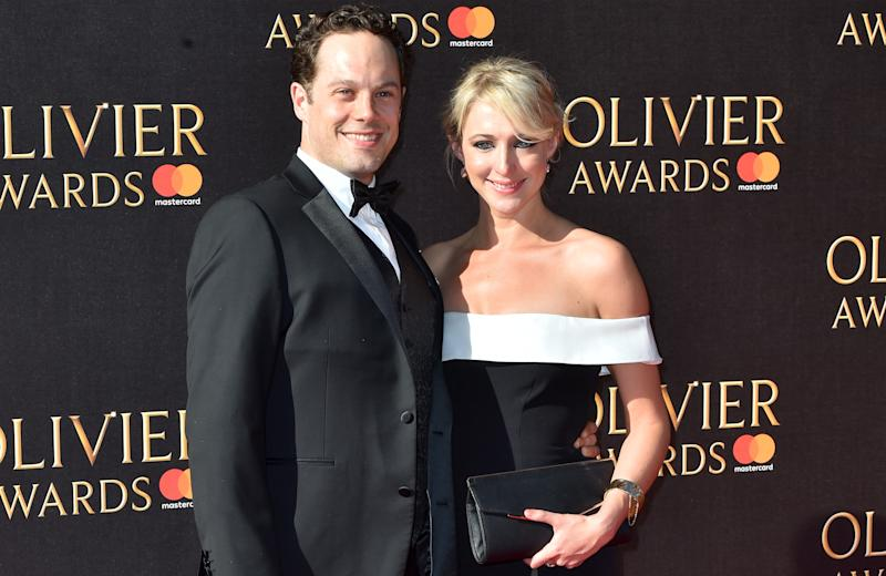 Ali Bastian married fellow actor David O'Mahony in February 2019. (PA)