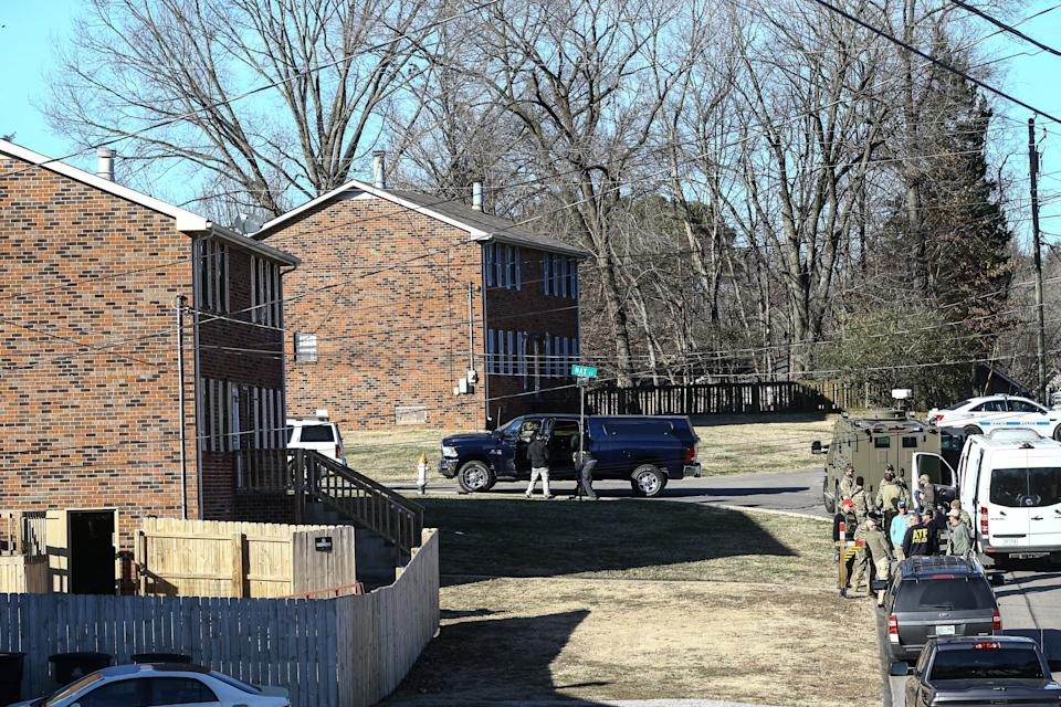Police investigate the house belonging to Warner in Nashville on Saturday. (Photo: Terry Wyatt via Getty Images)