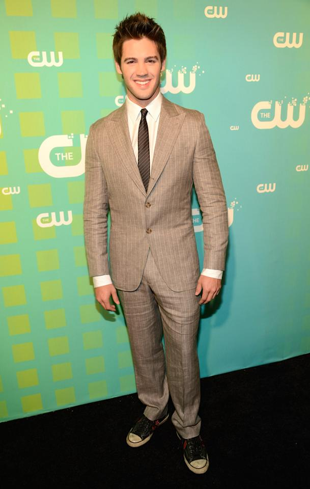 "Steven R. McQueen (""The Vampire Diaries"") attends The CW's 2012 Upfronts on May 17, 2012 in New York City."