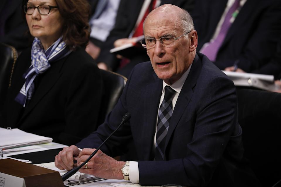 Former director of national intelligence Dan Coats testifies during a Senate Intelligence Committee hearing in Washington, D.C. on Jan. 29, 2019. (Aaron P. Bernstein/Bloomberg via Getty Images)