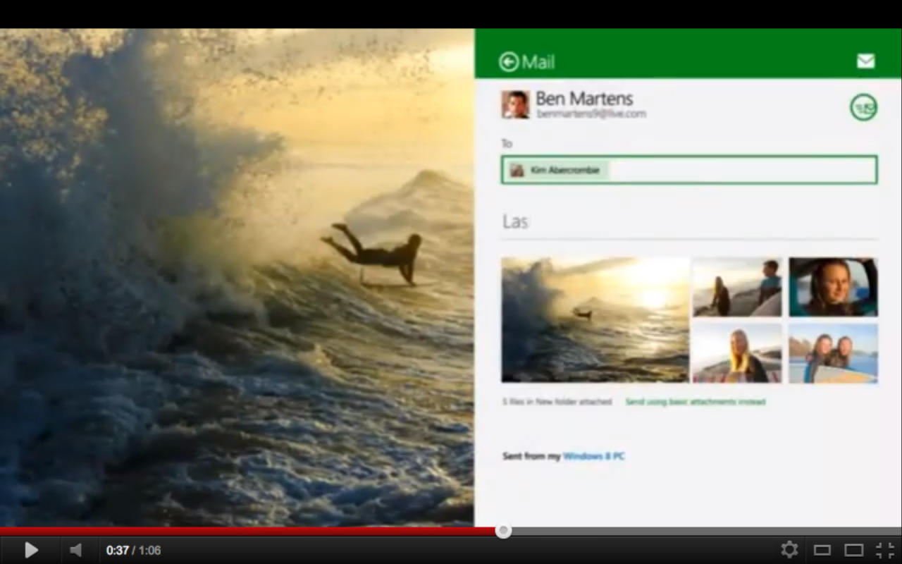 Windows 8 Consumer Preview Offcial Introduction Video screenshot video