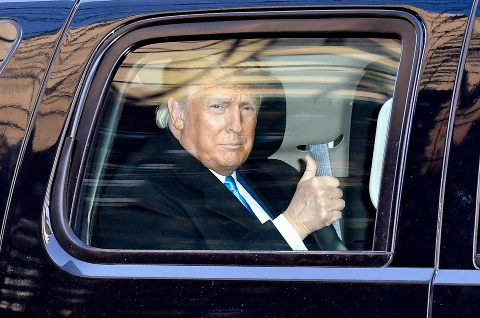Former President Donald Trump, seen here on March 9, reportedly criticized Sen. Mitch McConnell and fellow Republicans in a speech Saturday night. (Photo: James Devaney via Getty Images)