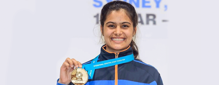Two of the three gold medals that Team India bagged at the ISSF World Cup were won by female shooters Manu Bhaker and Elavenil Velarivan.