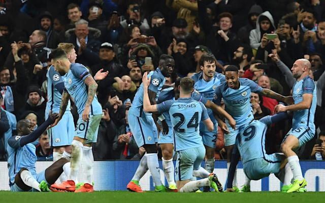 <span>Manchester City beat Monaco in thrilling first leg match at the Etihad but crashed out in the second</span> <span>Credit: AFP  </span>