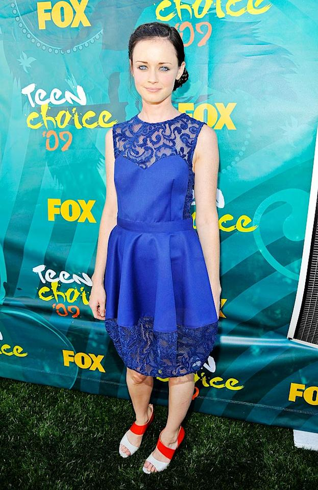 "We absolutely love Alexis Bledel (and miss ""Gilmore Girls"" more than you'll ever know), but the cheap-looking lace dress she wore to the Teen Choice Awards was a complete mess. Kevin Mazur/<a href=""http://www.wireimage.com"" target=""new"">WireImage.com</a> - August 9, 2009"