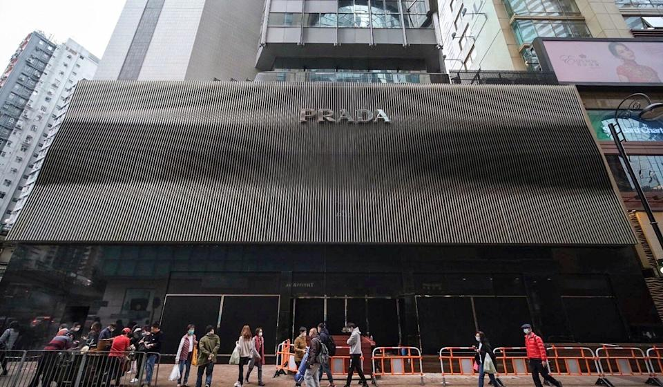 The building that housed the Prada store on Russell Street in Hong Kong's Causeway Bay. Photo: Sun Yeung