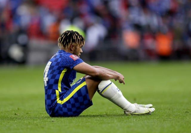 Reece James appears dejected at full-time