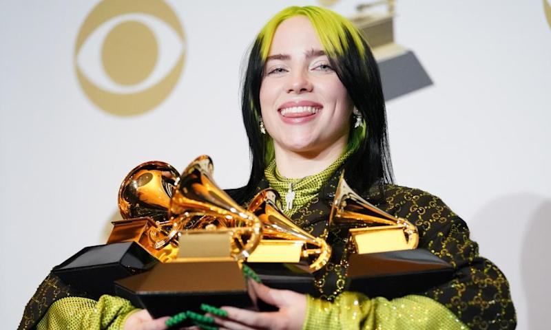 Eilish, 18, who went home with five Grammys including album of the year.