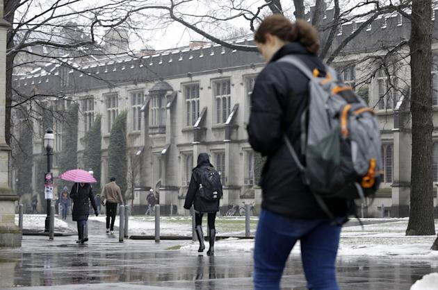 People walk at Princeton University (AP Photo/Mel Evans)