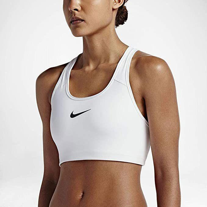 """<p><strong>Nike</strong></p><p>amazon.com</p><p><strong>$42.25</strong></p><p><a href=""""https://www.amazon.com/dp/B071WD59R1?tag=syn-yahoo-20&ascsubtag=%5Bartid%7C10055.g.35035078%5Bsrc%7Cyahoo-us"""" rel=""""nofollow noopener"""" target=""""_blank"""" data-ylk=""""slk:Shop Now"""" class=""""link rapid-noclick-resp"""">Shop Now</a></p><p>Nike is a classic workout brand famous for sneakers, but its apparel has aced our tests too. Testers rated the Nike Pro Swish sports bra as the <strong>most comfortable sports bra in our test</strong>. This medium impact style has a racerback design to allow an excellent range of motion. Nike offers <a href=""""https://www.amazon.com/Cushion-Socks-6-Pair-Womens-10-13/dp/B07MMBLY9X?tag=syn-yahoo-20&ascsubtag=%5Bartid%7C10055.g.35035078%5Bsrc%7Cyahoo-us"""" rel=""""nofollow noopener"""" target=""""_blank"""" data-ylk=""""slk:comfy socks"""" class=""""link rapid-noclick-resp"""">comfy socks</a>, <a href=""""https://www.amazon.com/Womens-2019-Nike-Pro-Short/dp/B07FKKHC3T?tag=syn-yahoo-20&ascsubtag=%5Bartid%7C10055.g.35035078%5Bsrc%7Cyahoo-us"""" rel=""""nofollow noopener"""" target=""""_blank"""" data-ylk=""""slk:training shorts"""" class=""""link rapid-noclick-resp"""">training shorts</a>, and <a href=""""https://www.amazon.com/NIKE-Womens-Team-Jacket-Anthracite/dp/B071WLRMG8?tag=syn-yahoo-20&ascsubtag=%5Bartid%7C10055.g.35035078%5Bsrc%7Cyahoo-us"""" rel=""""nofollow noopener"""" target=""""_blank"""" data-ylk=""""slk:breathable layers"""" class=""""link rapid-noclick-resp"""">breathable layers</a> too for all types of workouts.</p>"""