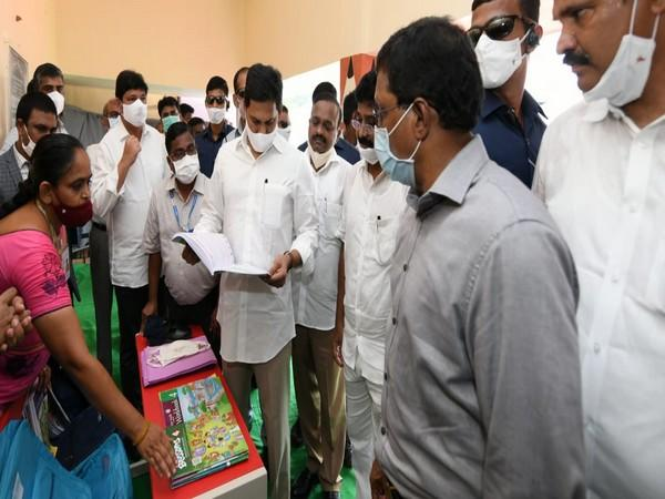 Andhra Pradesh Chief Minister Jagan Mohan Reddy at the launch of the scheme on Thursday.