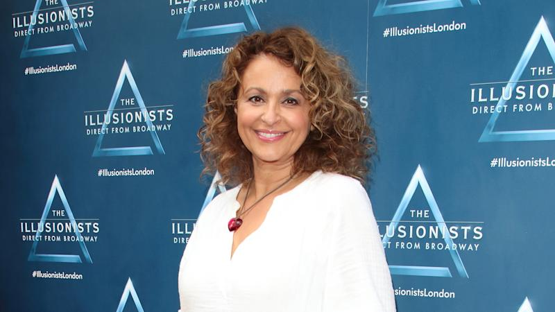 Nadia Sawalha attends The Illusionists Press Night at the Shaftesbury Theatre, Shaftesbury Avenue in London. (Photo by Keith Mayhew/SOPA Images/LightRocket via Getty Images)