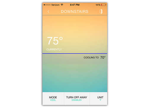 Harmony Ultimate Home Hub thermostat control