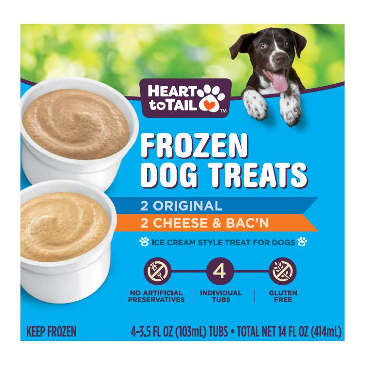 Packaging for Aldi Heart to Tail dog ice cream