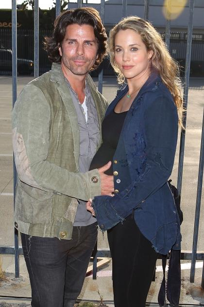 Elizabeth Berkley and husband Greg Lauren attend the MOCA Los Angeles presents 'Rebel' exhibition opening and reception on May 12, 2012 in Los Angeles -- WireImage