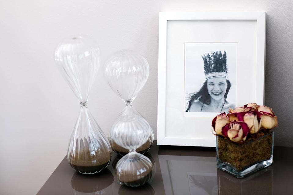 Every bedside table needs a little objet de désir, whether it's dried flowers from a friend or a limited-edition print of Kate Moss by Corinne Day.