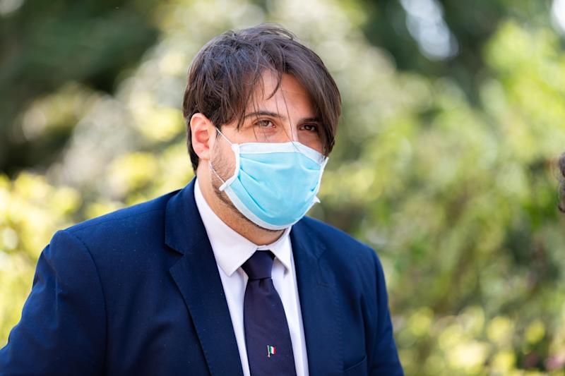 Stefano Buffagni with protective mask at the opening of the new Intensive Care Unit for patients with Coronavirus (Covid-19) at Luigi Sacco Hospital on May 29, 2020 in Milan, Italy (Photo by Alessandro Bremec/NurPhoto via Getty Images) (Photo: NurPhoto via Getty Images)