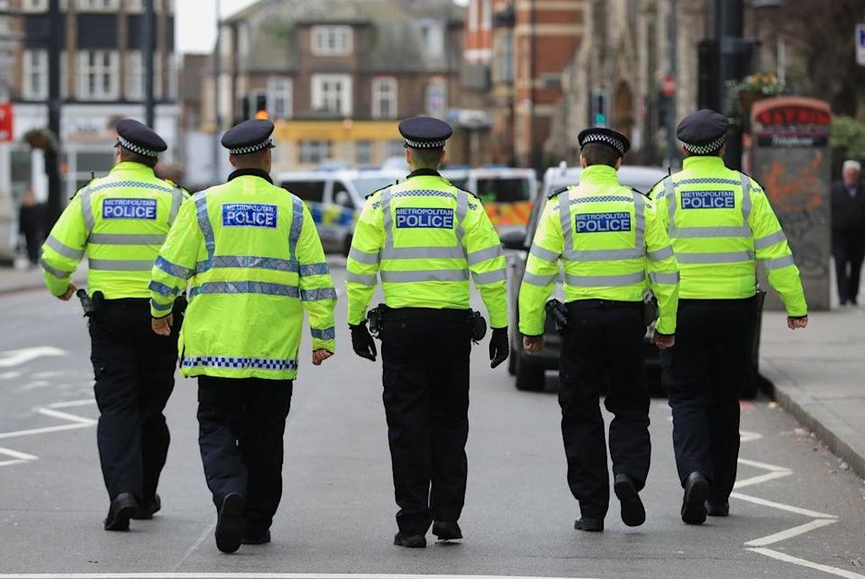 Police at the scene following last year's terror attack in Streatham High Road, south London, by Sudesh Amman (Aaron Chown/PA) (PA Wire)