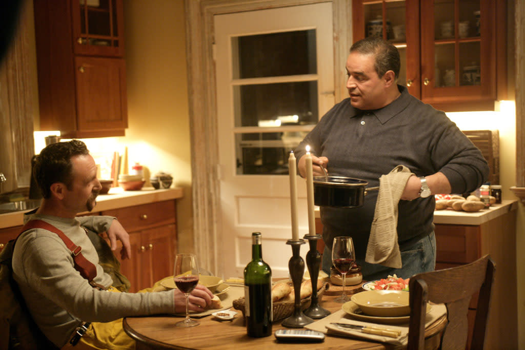 "John Costelloe, Joe Gannascoli in HBO's ""The Sopranos."""