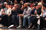 Common attends game three of Round One of the 2019 NBA Playoffs between the Brooklyn Nets and the Philadelphia 76ers at Barclays Center on April 18, 2019 in the Brooklyn borough of New York City. (Photo by Elsa/Getty Images)
