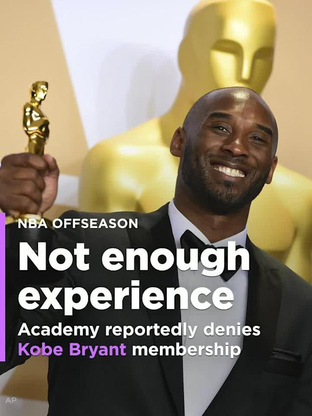 The Academy of Motion Picture Arts and Sciences has reportedly denied Kobe Bryant membership to its organization.