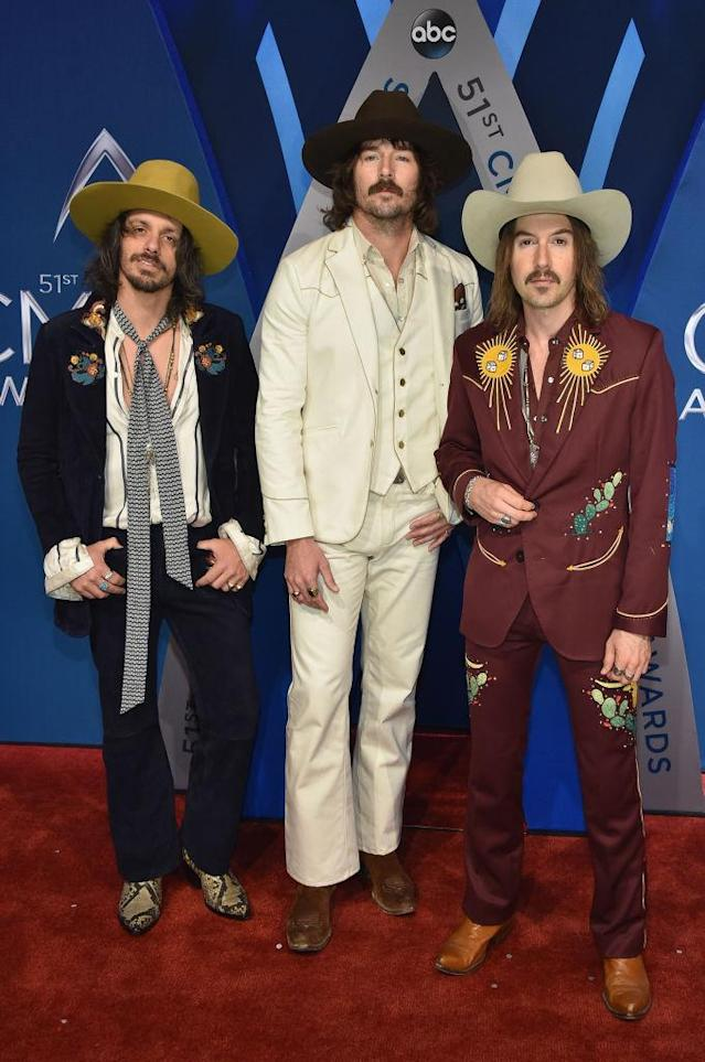 <p>Midland might be Jessie James Decker's favorite band, but they're everybody's first pick when it comes to red carpet fashion. (Photo: Getty Images) </p>