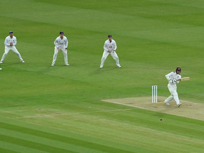 Somerset's Eddie Byrom finished the day 51 not out (Getty Images)