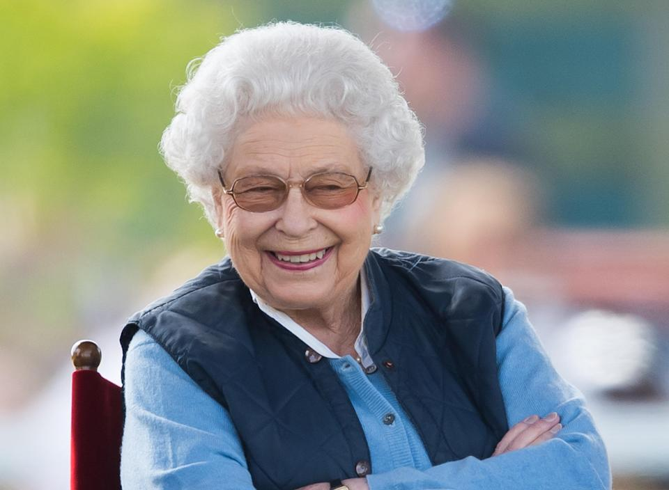 <p>The Queen smiles at the Royal Windsor Horse Show in May (Getty) </p>