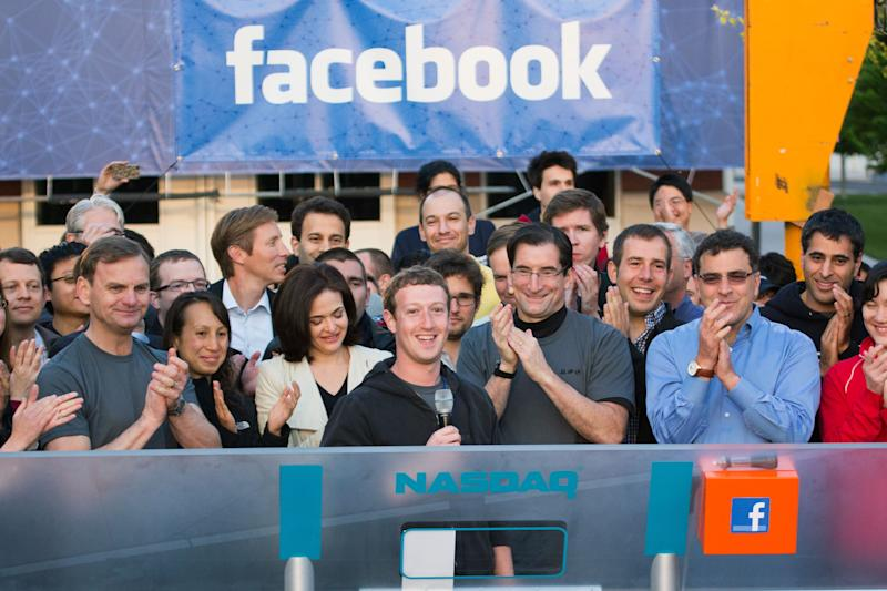 A year after IPO, Facebook aims to be ad colossus