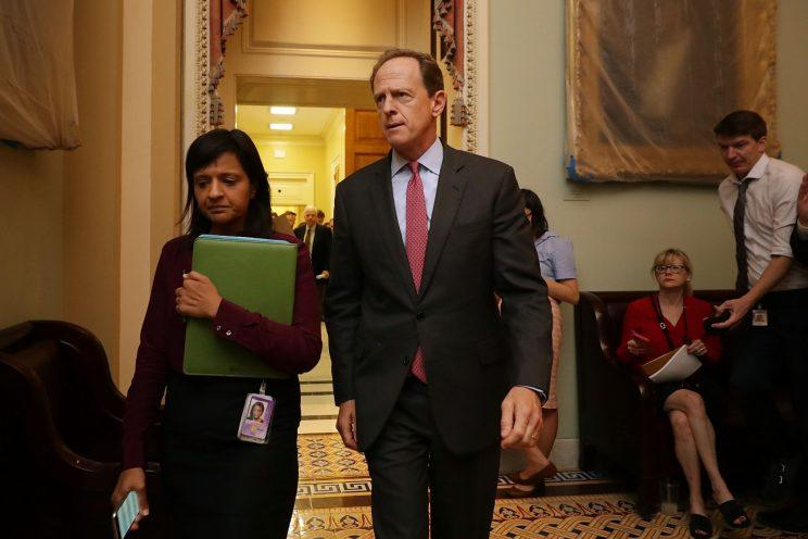 Sen. Pat Toomey (R-PA) leaves a meeting of GOP senators in the U.S. Capitol June 22, 2017 in Washington, DC. (Photo: Chip Somodevilla/Getty Images)