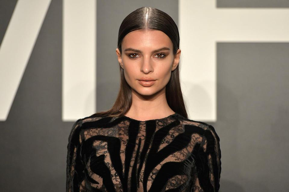 LOS ANGELES, CA - FEBRUARY 20:  Model/actress Emily Ratajkowski, wearing TOM FORD, attends the TOM FORD Autumn/Winter 2015 Womenswear Collection Presentation at Milk Studios in Los Angeles on February 20, 2015.  (Photo by Charley Gallay/Getty Images for Tom Ford)