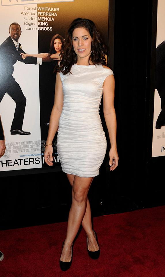 """<a href=""""http://movies.yahoo.com/movie/contributor/1804517837"""">Ana Ortiz</a> at the New York City premiere of <a href=""""http://movies.yahoo.com/movie/1810093971/info"""">Our Family Wedding</a> - 03/09/2010"""