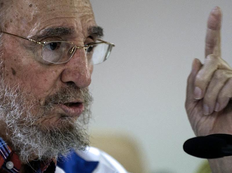 "Fidel Castro marked his 89th birthday by insisting the United States owes Cuba ""many millions of dollars"" because of the half-century-old American trade embargo (AFP Photo/Alex Castro)"