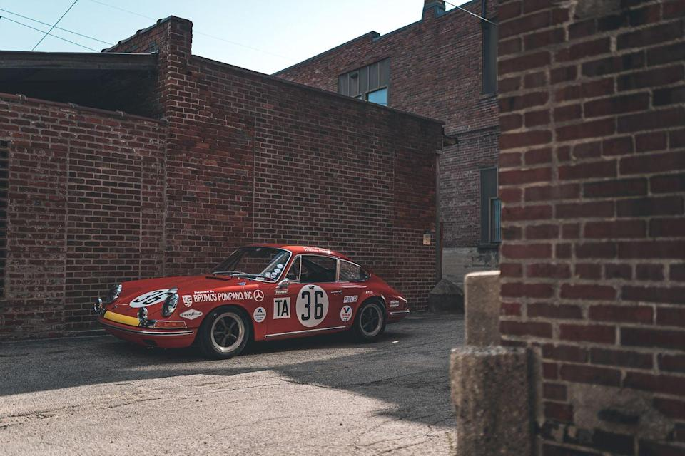 """<p>Another beautiful piece of racing history, this 1967 911 competed in several endurance races, winning the 1969 12 Hours of Sebring with the <a href=""""https://www.roadandtrack.com/car-culture/interviews/a28002/brumos-racing-hurley-haywood-peter-gregg-porsche-documentary/"""" rel=""""nofollow noopener"""" target=""""_blank"""" data-ylk=""""slk:legendary Peter Gregg"""" class=""""link rapid-noclick-resp"""">legendary Peter Gregg</a> behind the wheel. This car was delivered to the original Brumos Porsche dealership, the one that later started Gregg's <a href=""""https://www.caranddriver.com/features/g30783854/best-of-brumos-collection-jacksonville-florida/"""" rel=""""nofollow noopener"""" target=""""_blank"""" data-ylk=""""slk:Brumos racing team"""" class=""""link rapid-noclick-resp"""">Brumos racing team</a>.</p>"""