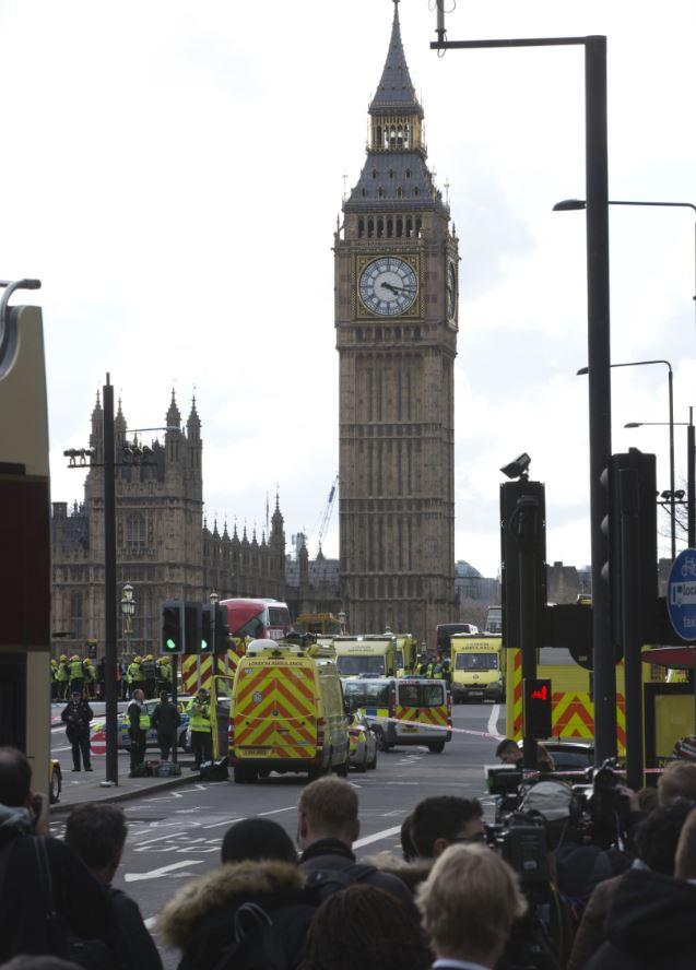 The shocking scenes from Westminster on Wednesday (REX/Shutterstock)