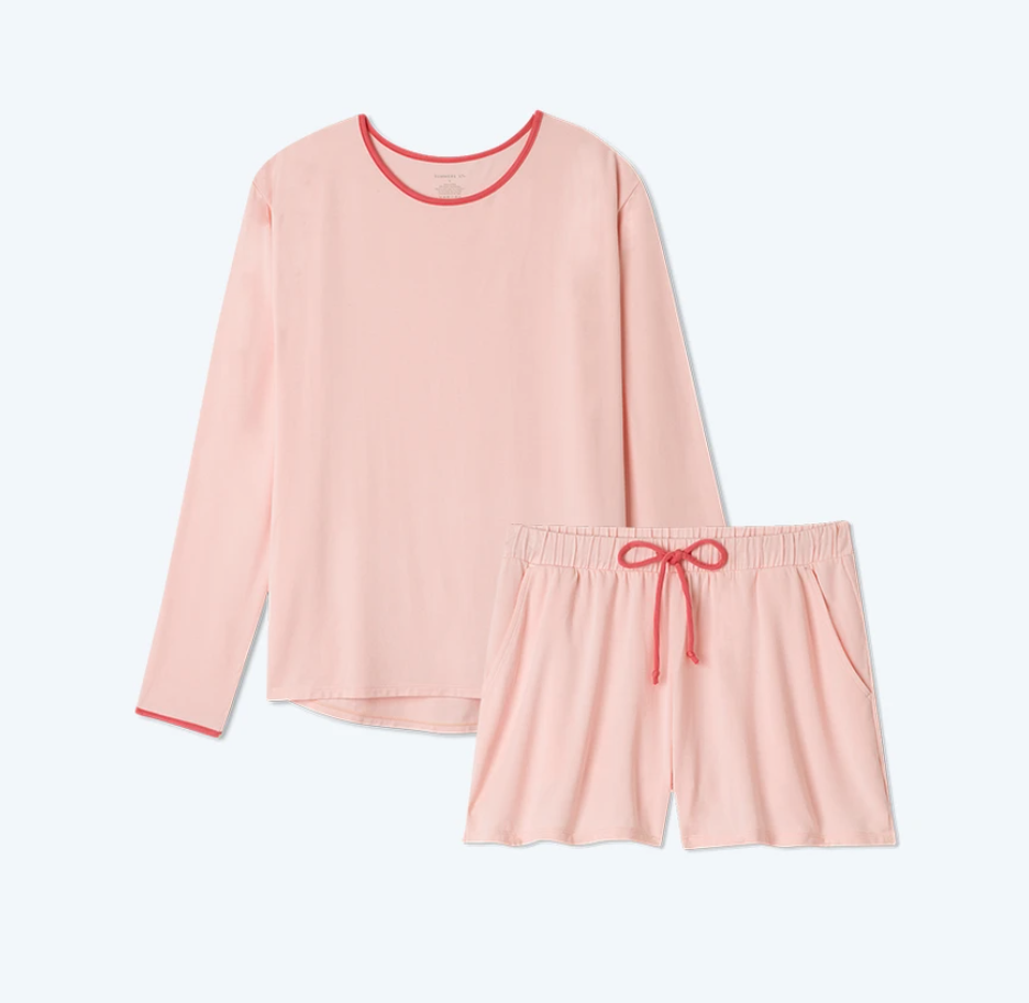 Summersalt The All Day & Night Shorts Set in Peony
